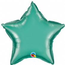"Green Chrome Foil Balloon (20"" Star) 1pc"